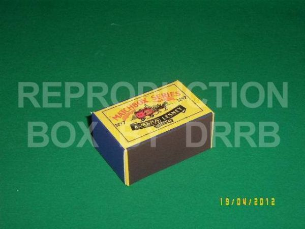 Matchbox 1-75 # 7 Horse Drawn Milk Float - Reproduction Box